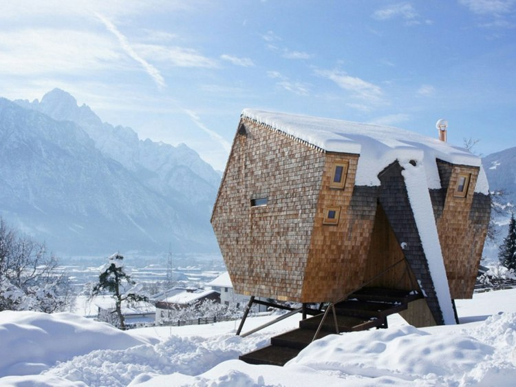 llamativa especial casa madera