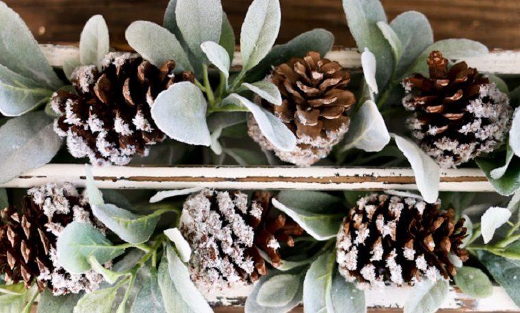 manualidade de navidad-pinas-pino