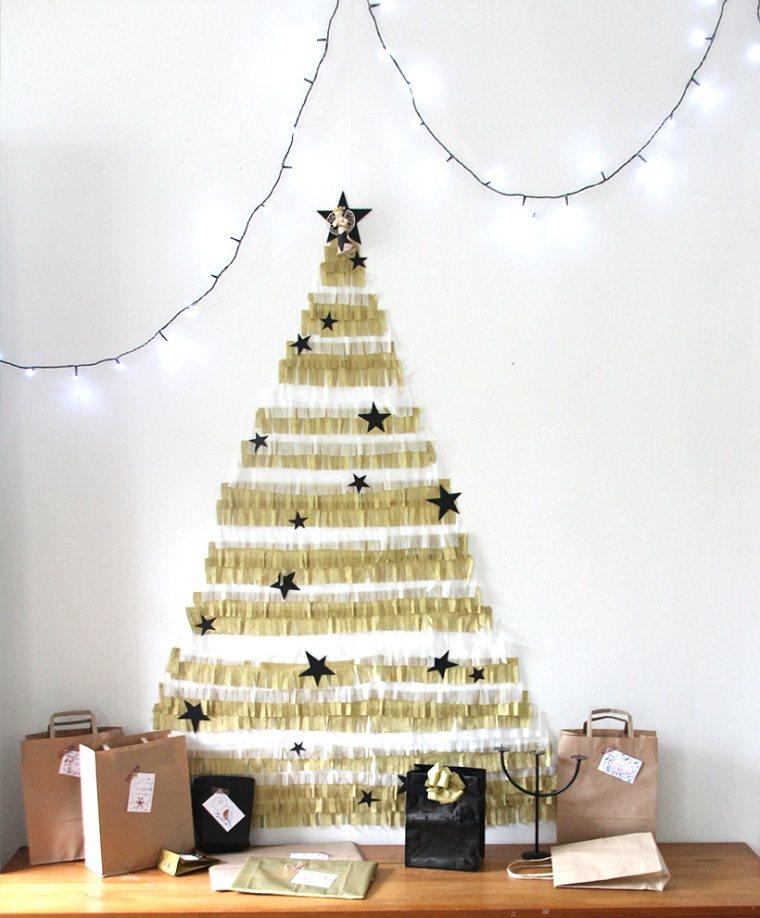 manualidades-de navidad-arbol-decorativo-papel-elegante
