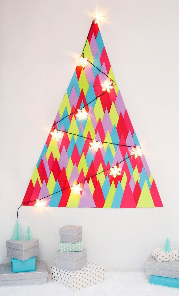 manualidades-de navidad-arbol-decorativo-papel