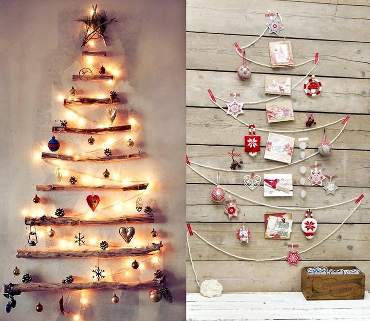 manualidades-de navidad-arbol-decorativo-pared