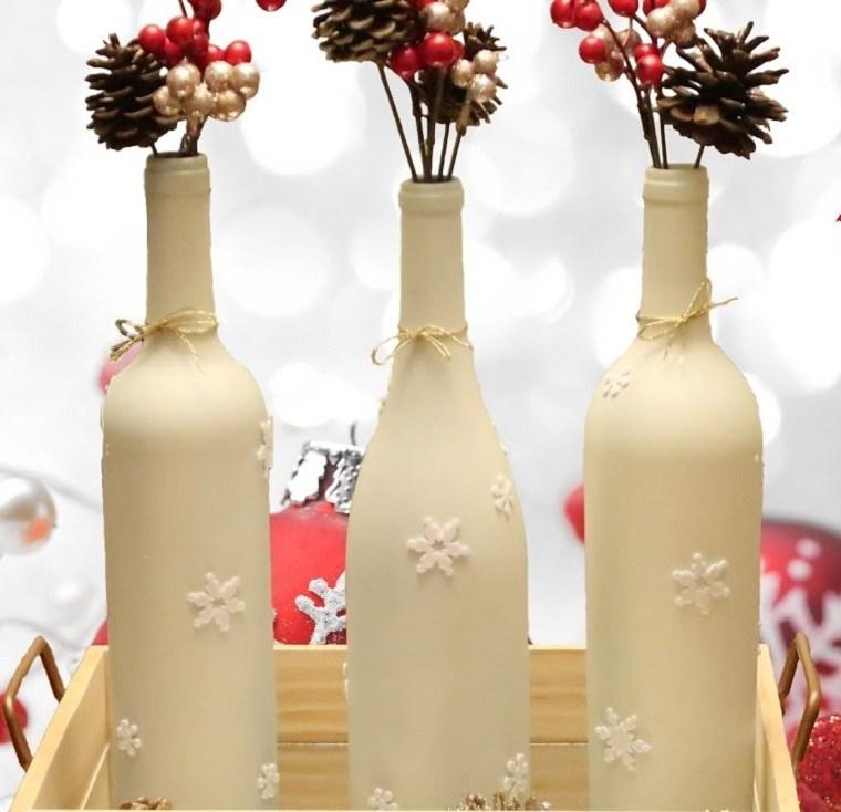 manualidades-de-navidad-botelas-vino-decorar-mesa