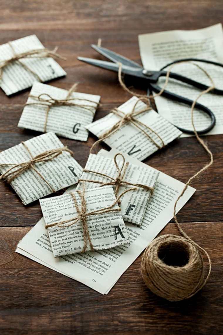 manualidades-de navidad-papel-periodico-tarjetas