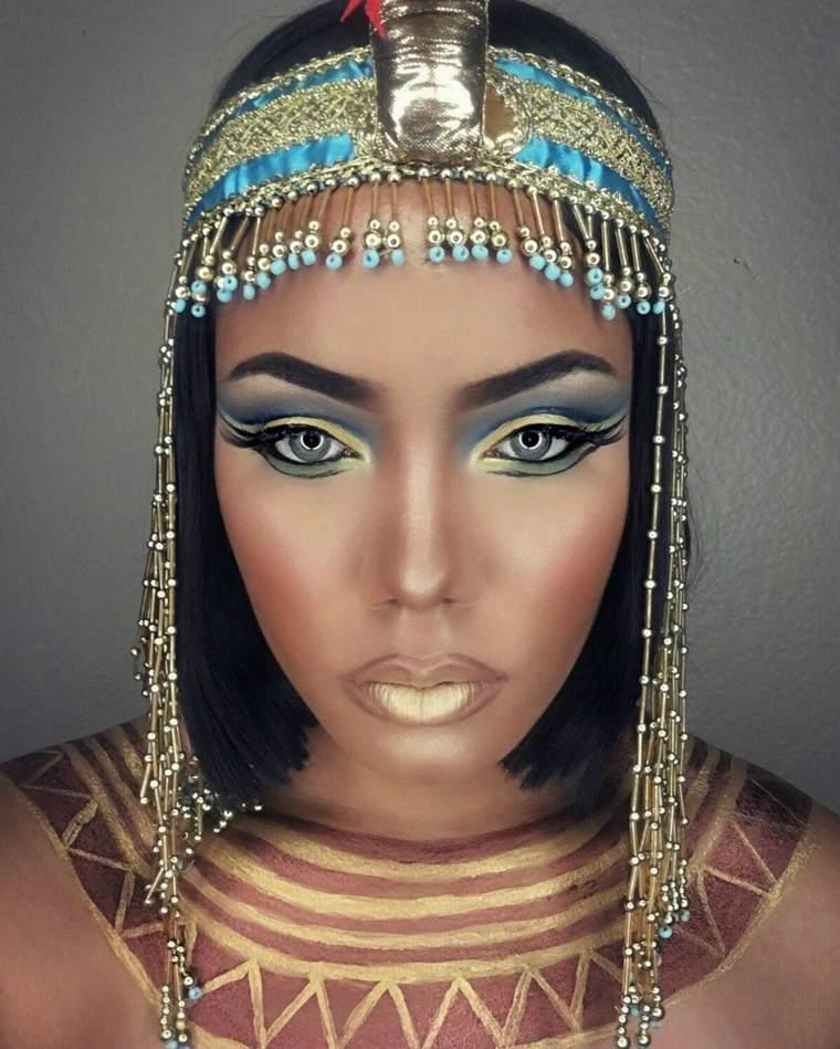 maquillaje Halloween mujer-estilo-cleopatra