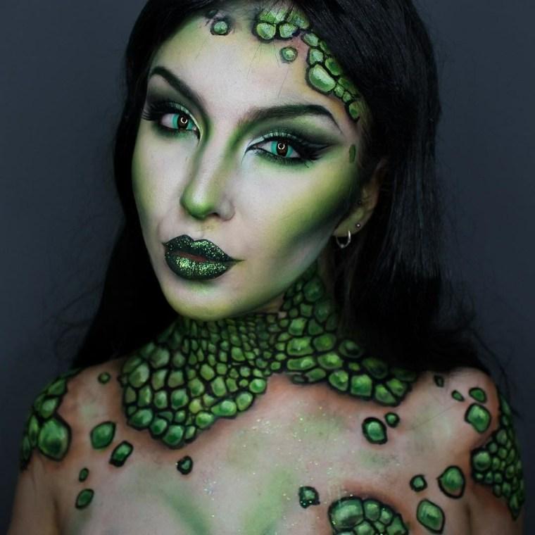maquillaje Halloween mujer-estilo-criatura-mar