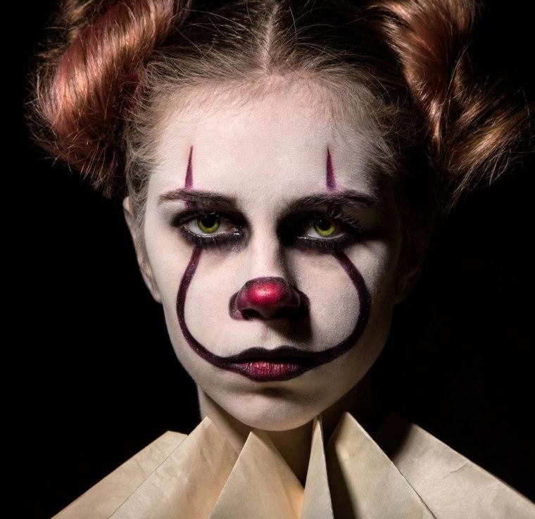 maquillaje Halloween mujer-payaso-malefico
