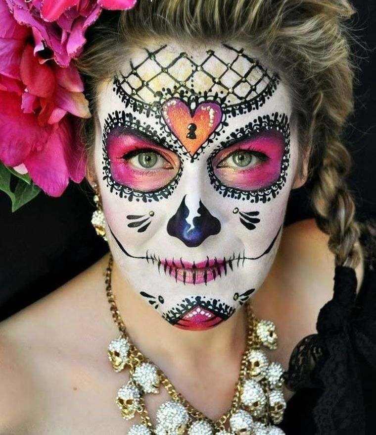 maquillaje-halloween-mujer-ideas-craneo