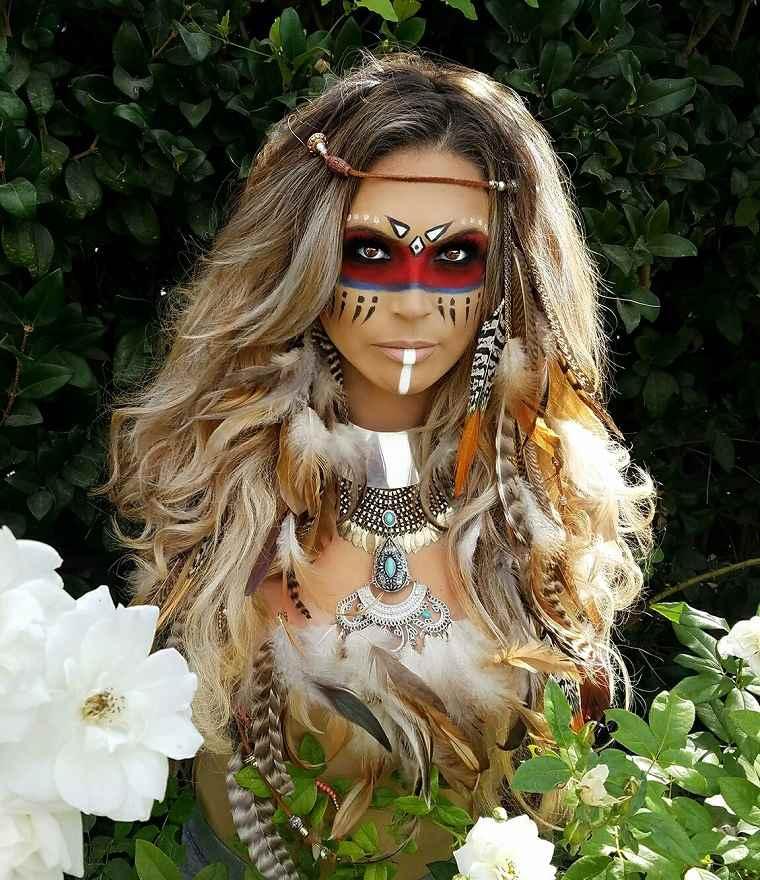 maquillaje-halloween-opciones-originales-tribal