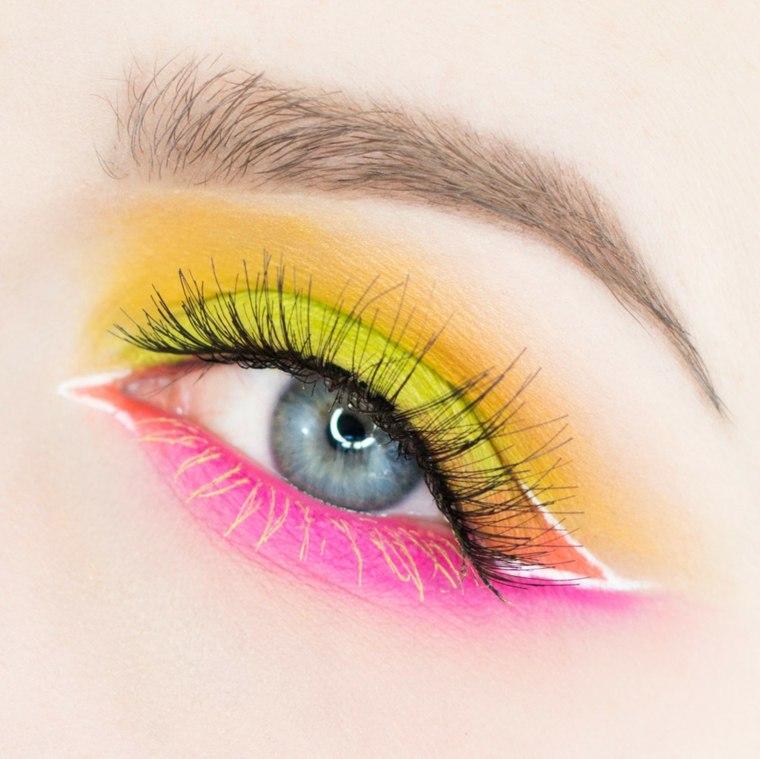 maquillaje neon-colores-llamativos-look-fiesta