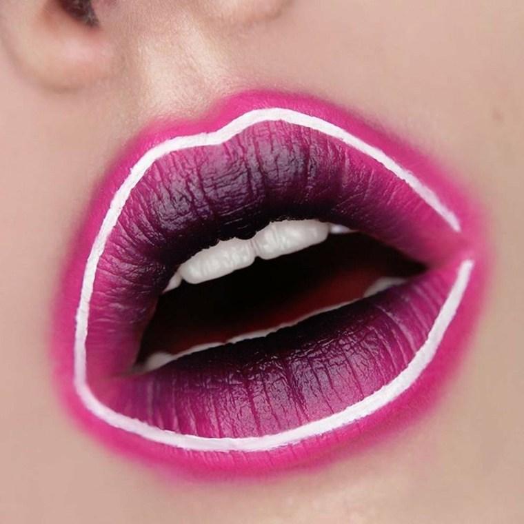 maquillaje neon-labios-arte-ideas-fiesta