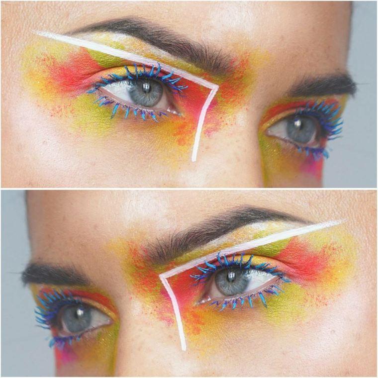 maquillaje-neon-ojos-color-estilo-pasarela