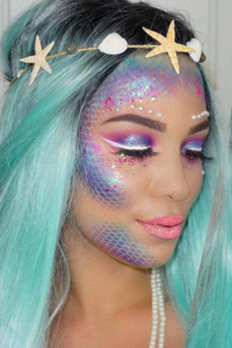 maquillaje de sirenita