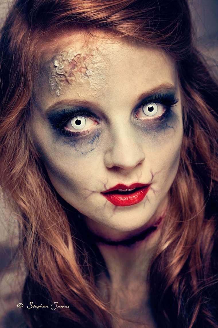 maquillaje de muerta viviente
