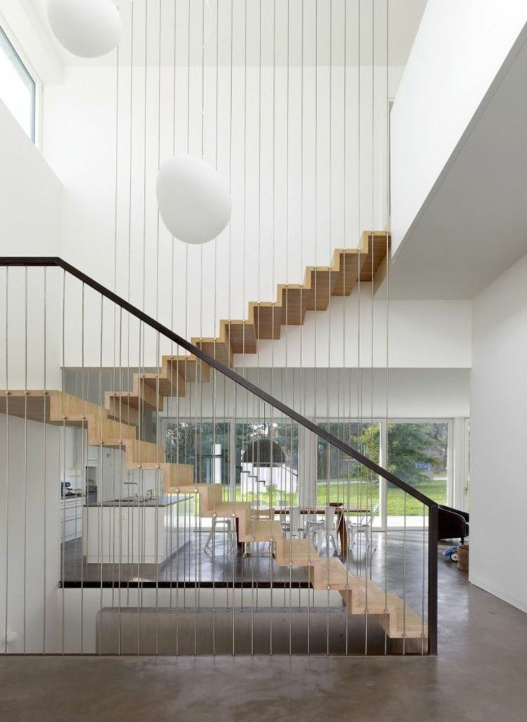 minimalista acabados madera clara