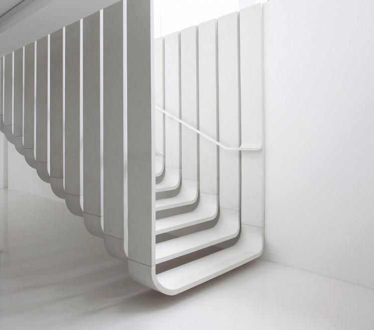 minimalista escalera diseño elegante