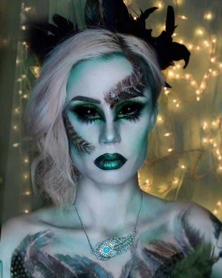 maquillaje de monstruo