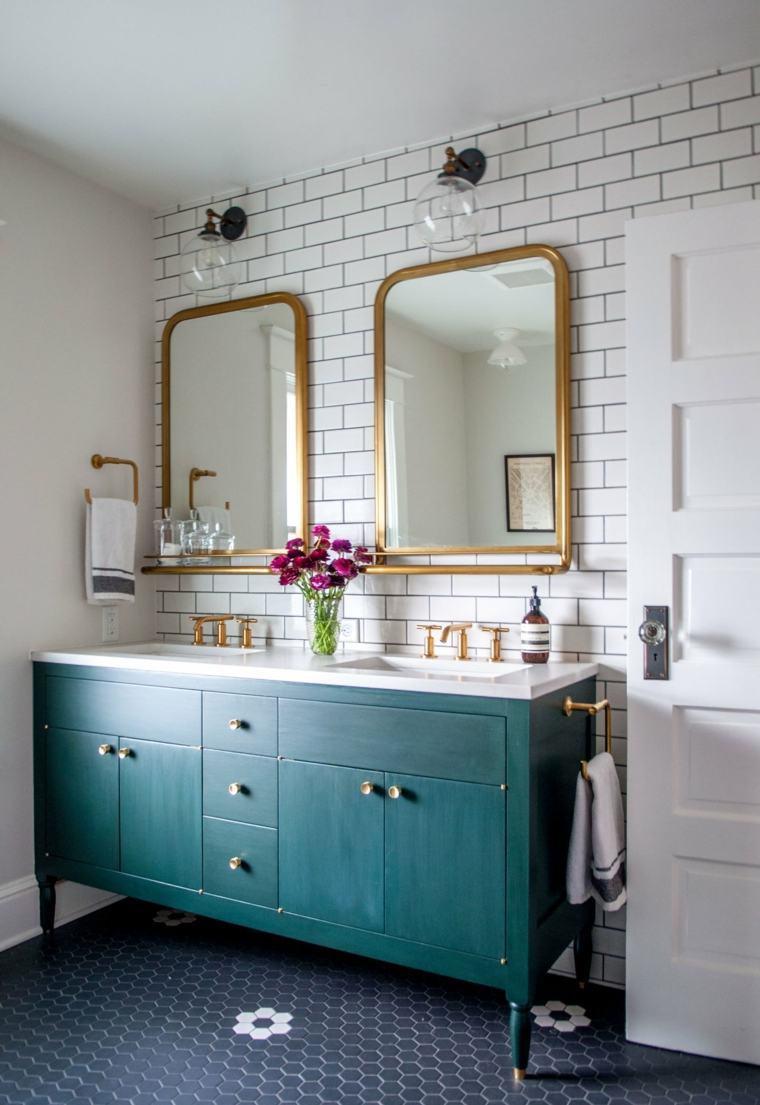 muebles-bano-color-verde-opciones-diseno-moderno