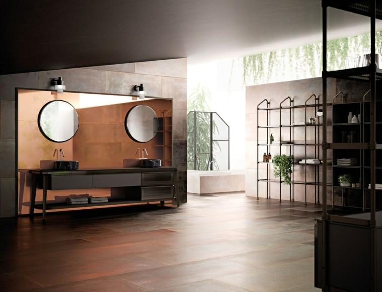 muebles-bano-lujo-cobre-pared-lavabos