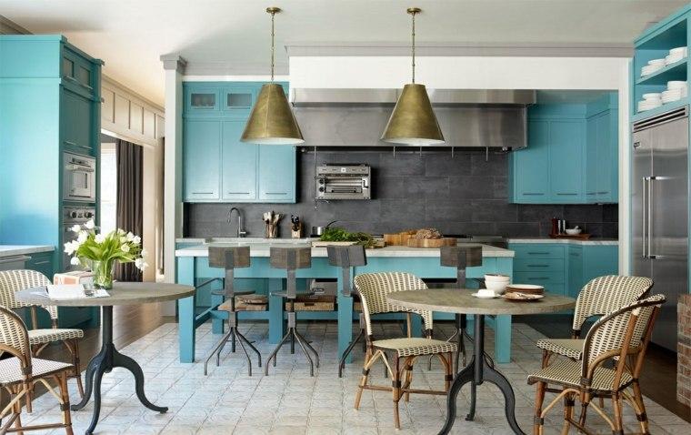 diseños de cocinas muebles-color-original-cocina-diseno-atractivo