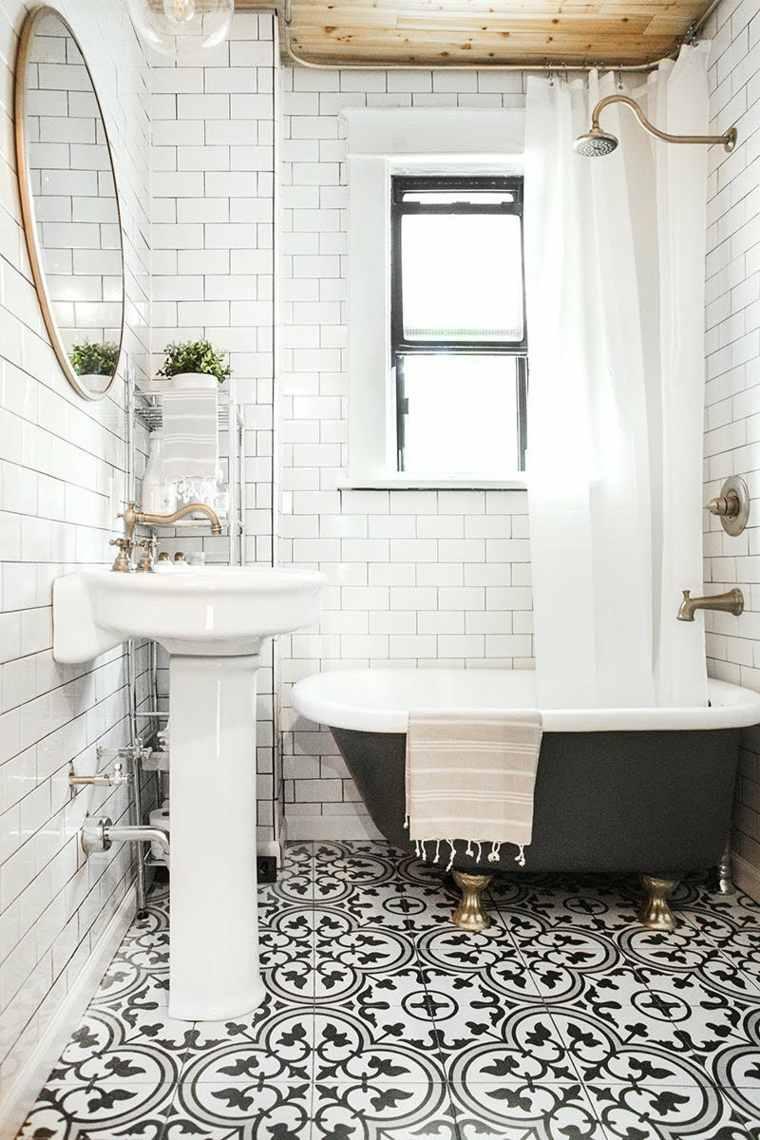 muebles de baño modernos interiores-estrechos