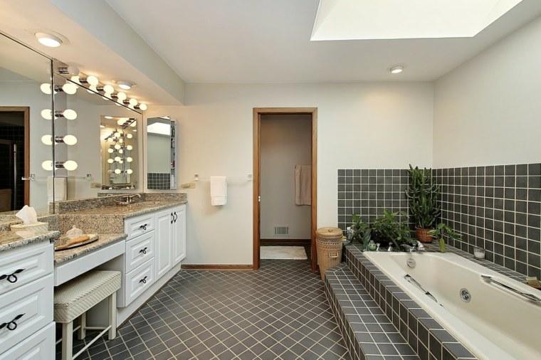 muebles de baño modernos lavabos-madera-blanco