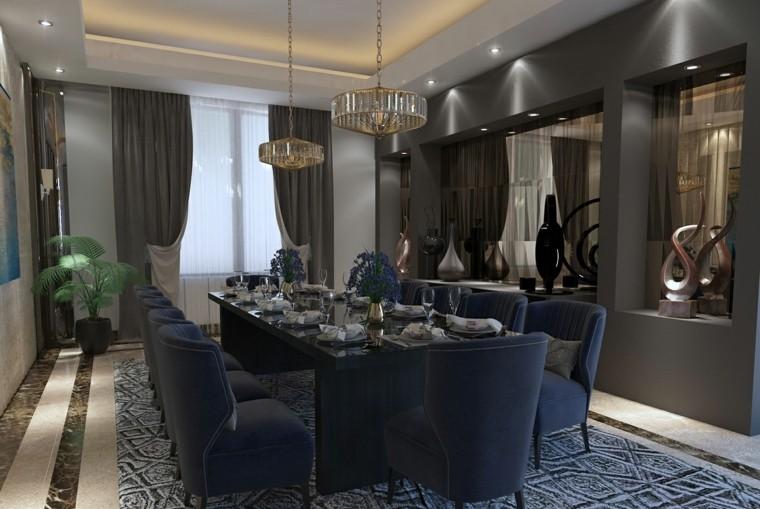 muebles de comedor modernos-colores-oscuros