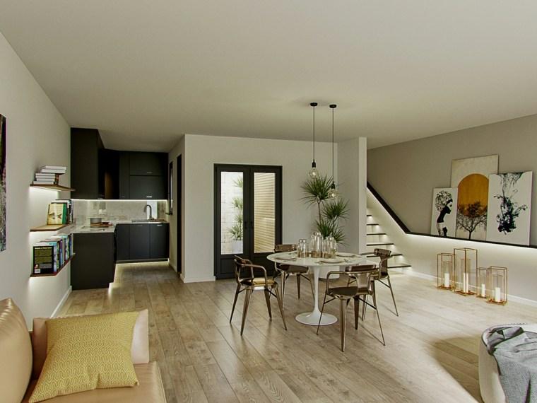 muebles-de-comedor-modernos-estilo-brillante