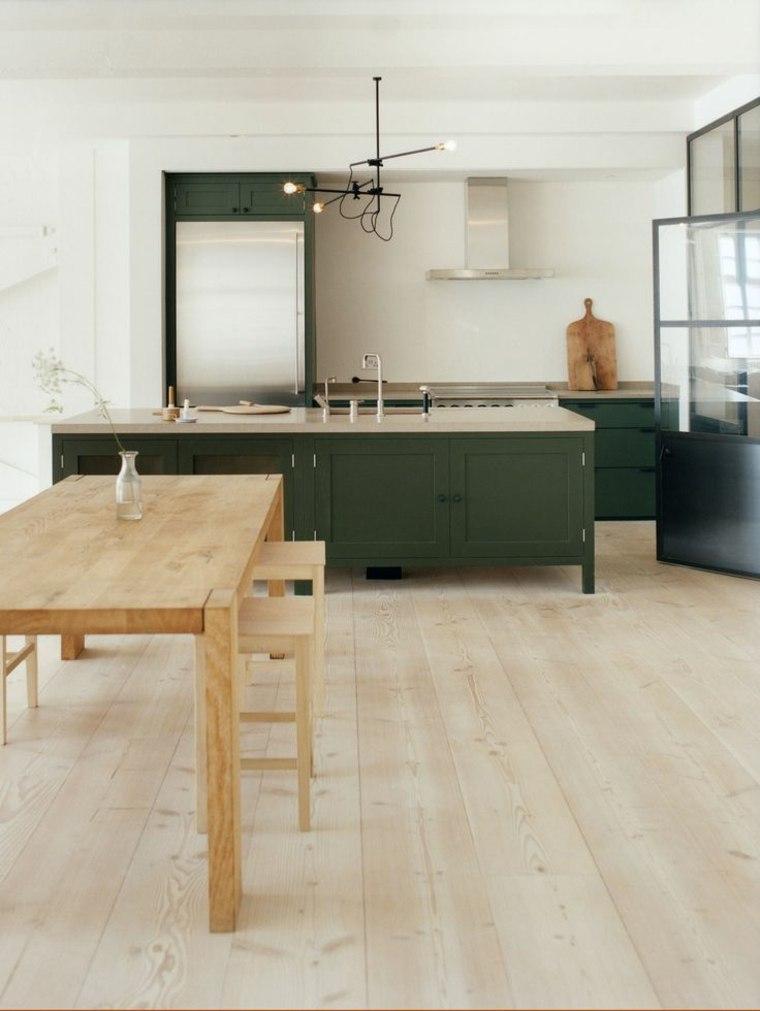 original diseño de cocina verde