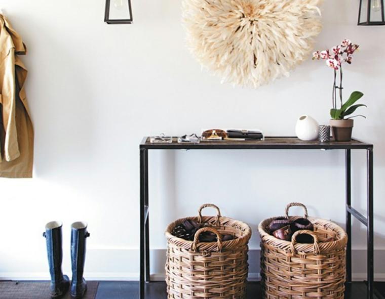 muebles recibidor-pasillo-entrada-detalles-decorativos