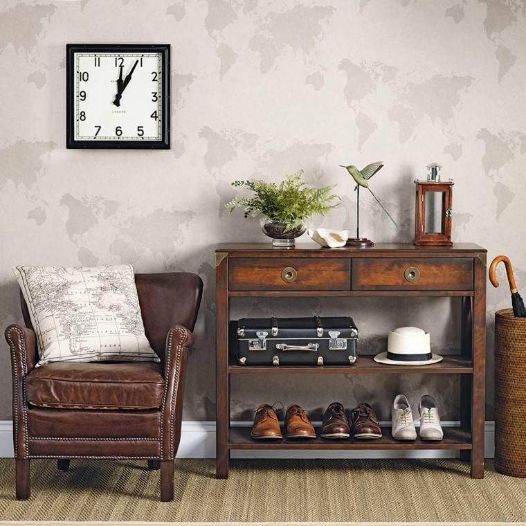 muebles-recibidor-pasillo-entrada-estilo-vintage