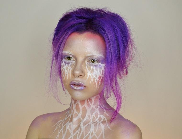 mujer-maquillaje-elfo-interpretacion-interesante