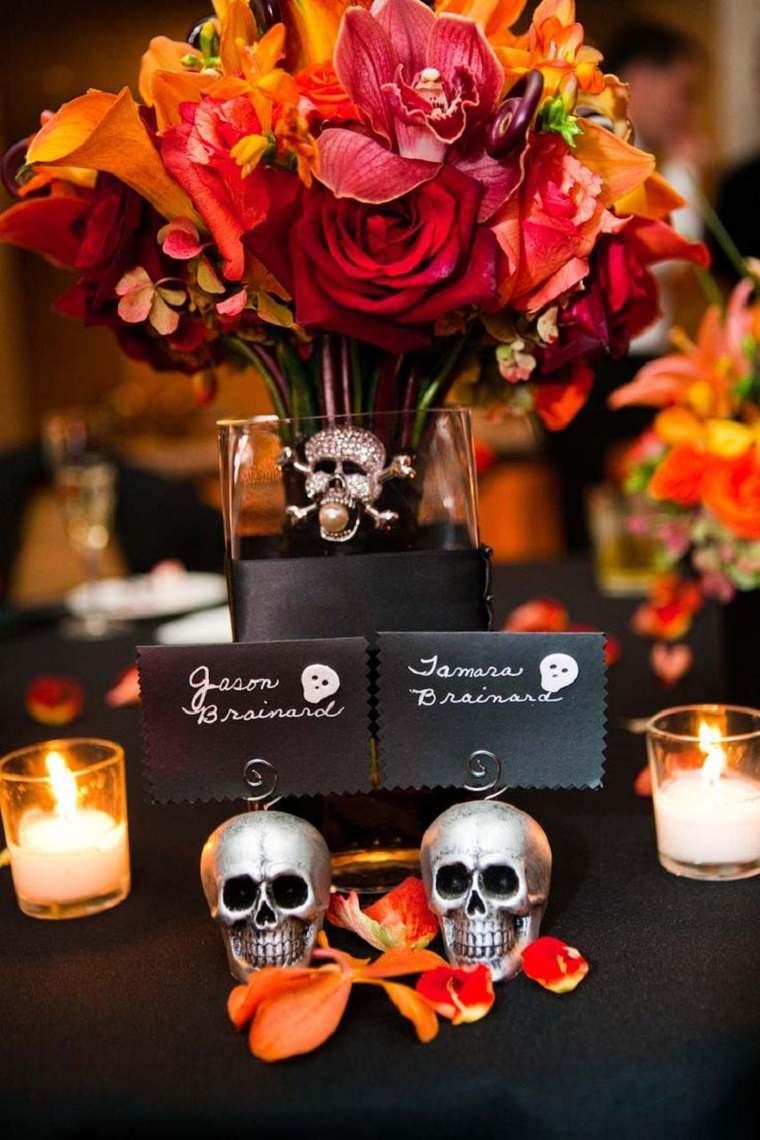 opciones-boda-halloween-decorar-mesa-estilo-moderno