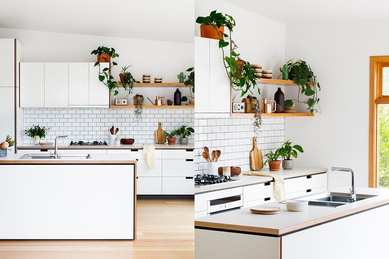 Estantes abiertos para cocina ideas de almacenamiento modernas y funcionales - Estanterias para la cocina ...