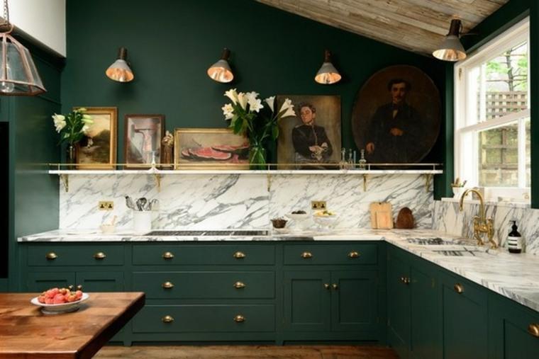 Cocinas verdes - deja que el color verde inunde tu cocina -