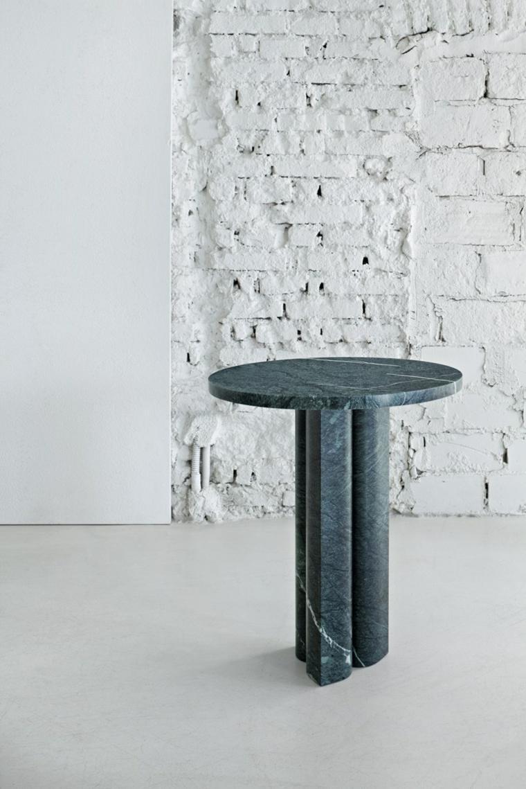 paredes ladrillo descubierto mesa
