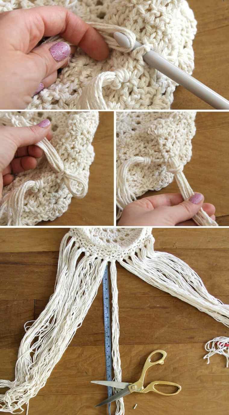 pasos para hacer un bolso de trapillo