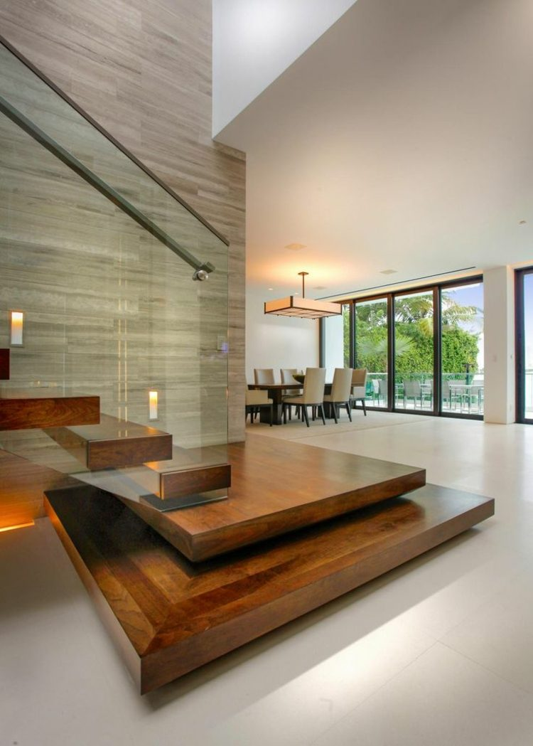 plataforma madera suelos blancos