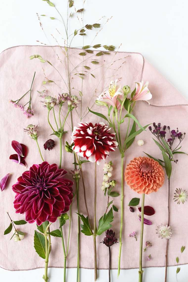 decoración de mesa con flores