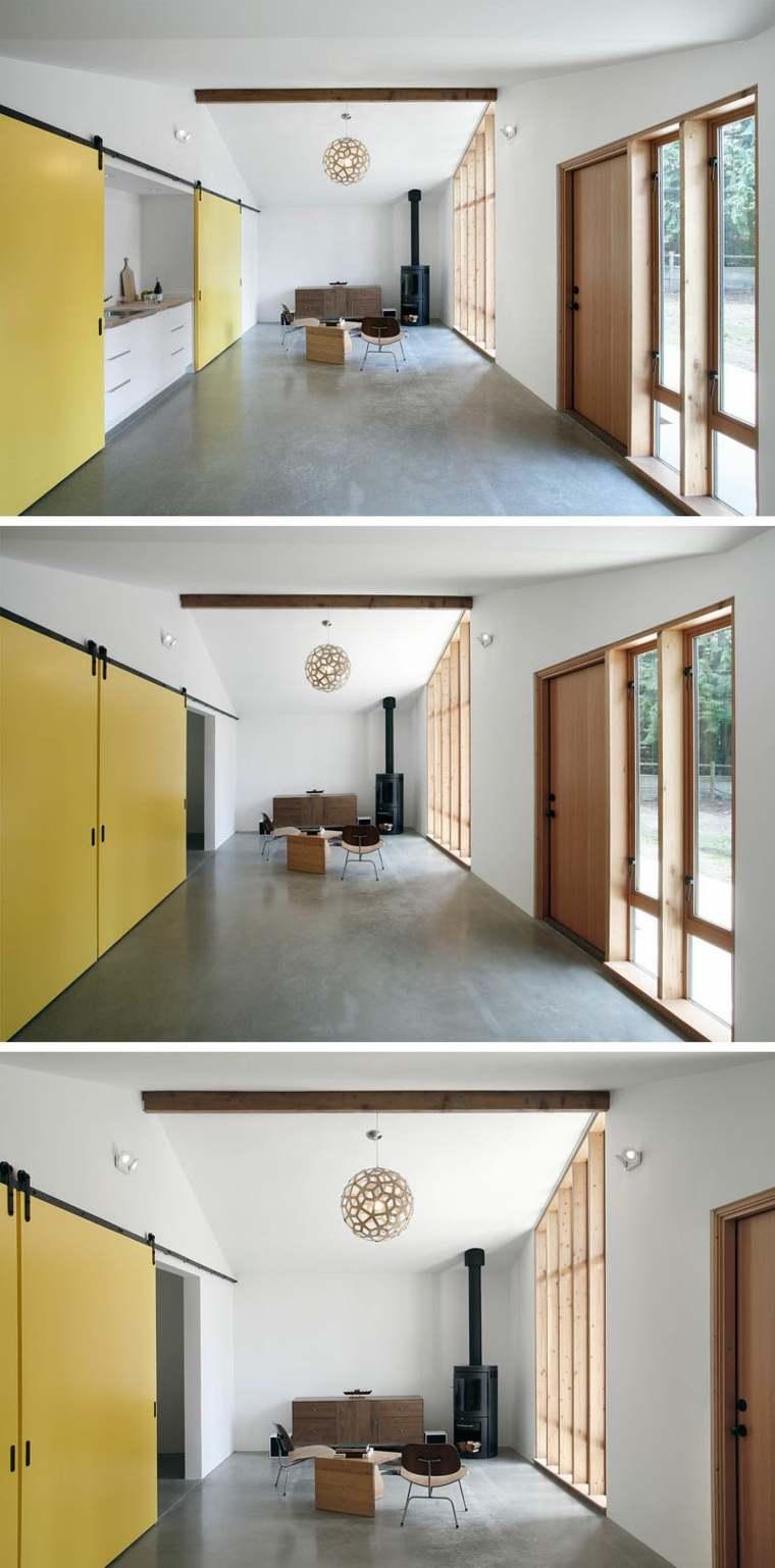 puertas correderas tonalidades claras