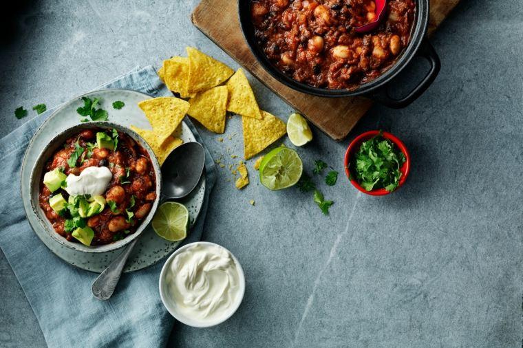 sencilla receta vegana de chili con carne