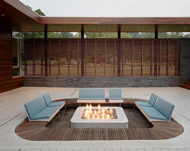 salón ideas creativas-jardin-mesa-diseno-moderno