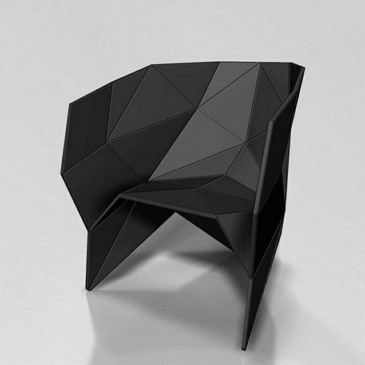 creativa muestra de sillon negro elegante flexible