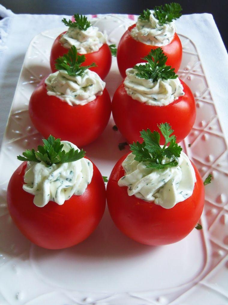 tomates rellenos de queso