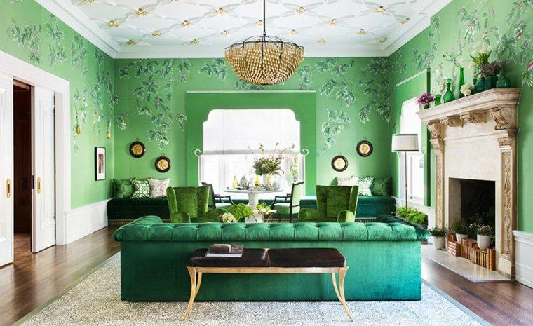 papel pintado verde