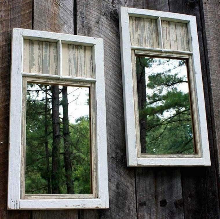 vallas de jardín con espejos