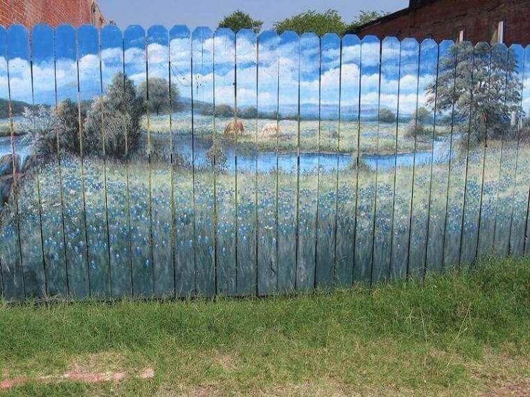 decoración de vallas de jardín