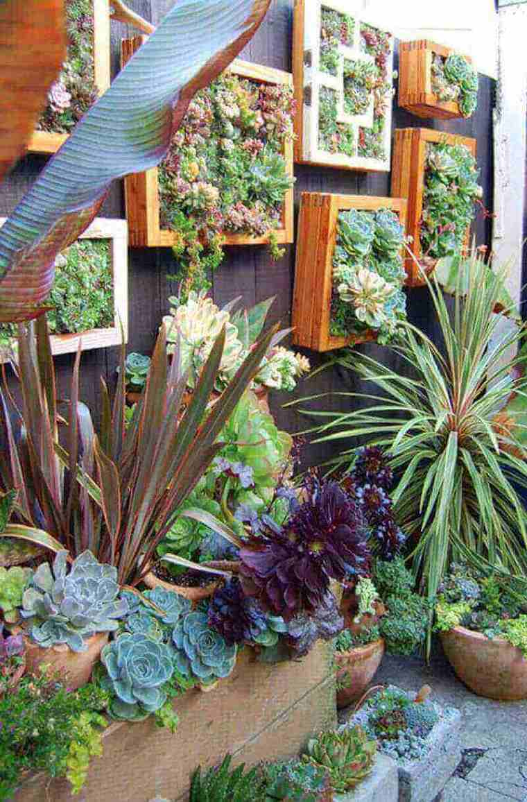 vallas de jardín con jardines verticales