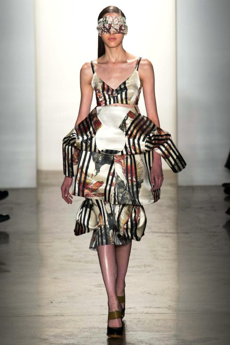 vestido colores formas iregulares moda