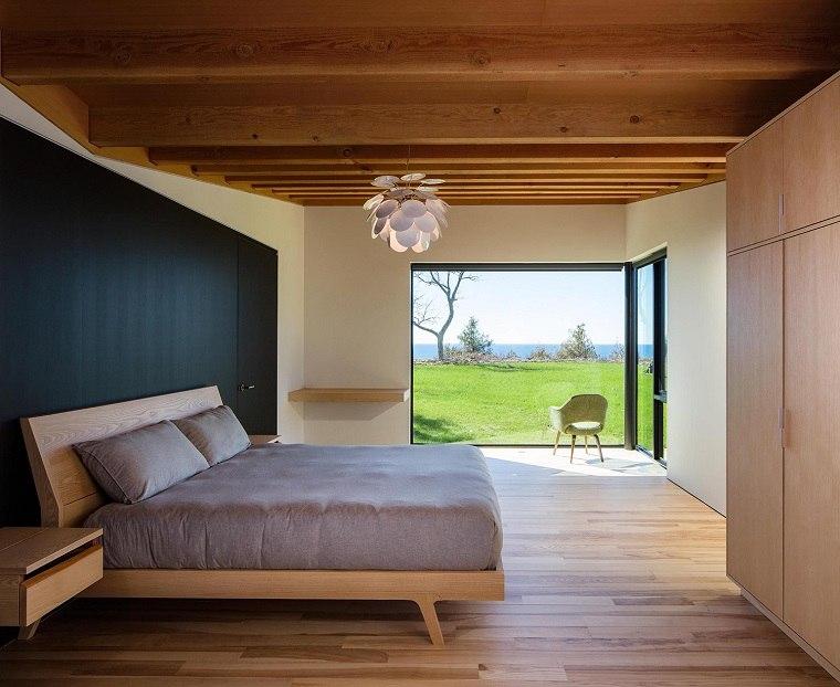 vista paisaje dormitorio moderno