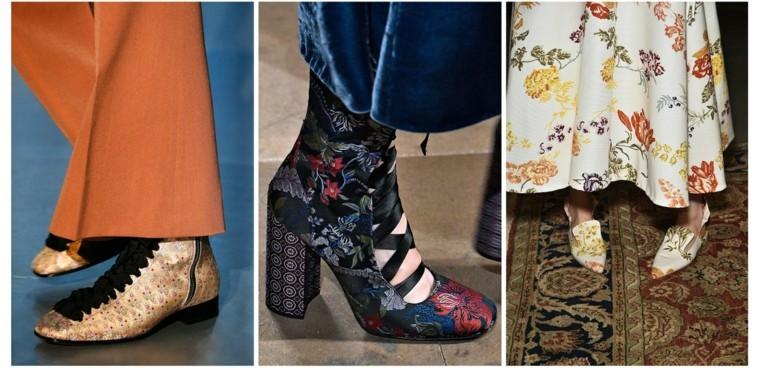 zapatos con estampados de flores